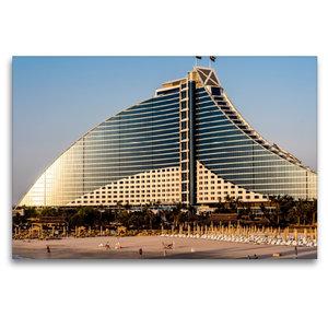 Premium Textil-Leinwand 120 cm x 80 cm quer Jumeirah Beach Hotel