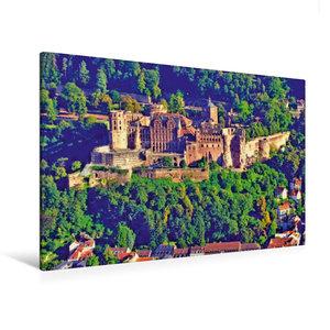 Premium Textil-Leinwand 120 cm x 80 cm quer Heiligenbergturm: Bl