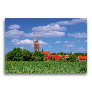 Premium Textil-Leinwand 75 cm x 50 cm quer Kirche St. Petri