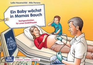 Ein Baby wächst in Mamas Bauch. Kamishibai Bildkartenset.