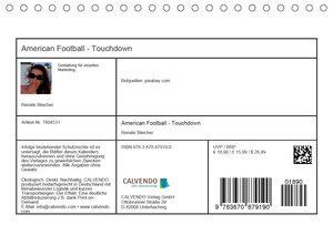 American Football - Touchdown (Tischkalender 2020 DIN A5 quer)