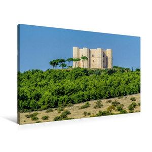 Premium Textil-Leinwand 90 cm x 60 cm quer Castel del Monte