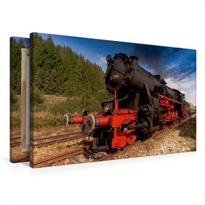 Premium Textil-Leinwand 75 cm x 50 cm quer Lok 52 7596 - gebaut