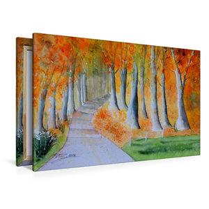 Premium Textil-Leinwand 120 cm x 80 cm quer Herbstzauber