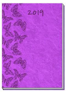 Taschenkalender A7 Soft Touch Rot 2019 Taschenterminer Buchkalen