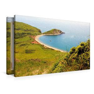 Premium Textil-Leinwand 90 cm x 60 cm quer Worbarrow Bay Dorset