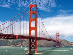 Golden Gate in San Francisco 1000 Teile Puzzle quer