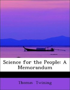 Science for the People: A Memorandum