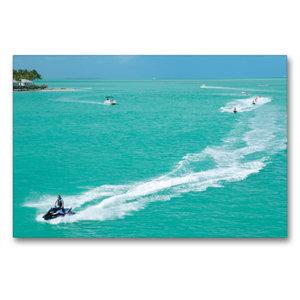 Premium Textil-Leinwand 90 cm x 60 cm quer Key West