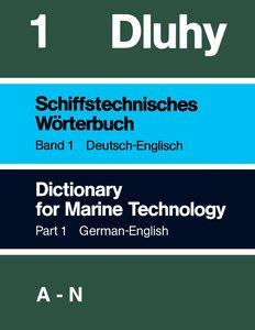 Schiffstechnisches Wörterbuch Dtsch - Engl. 2 Bände