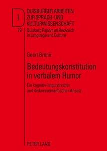 Bedeutungskonstitution in verbalem Humor