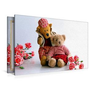 Premium Textil-Leinwand 120 cm x 80 cm quer Teddybären