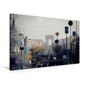 Premium Textil-Leinwand 75 cm x 50 cm quer Place de l\'Aigle / A
