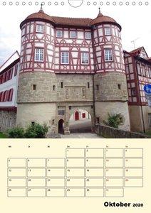 Fachwerk-Schlösser in Baden-Württemberg erleben (Wandkalender 20