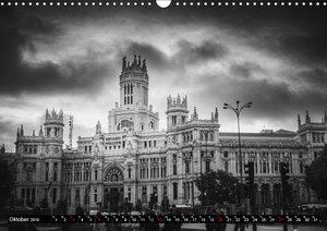Madrid - Schwarz-Weiß Impressionen (Wandkalender 2019 DIN A3 que