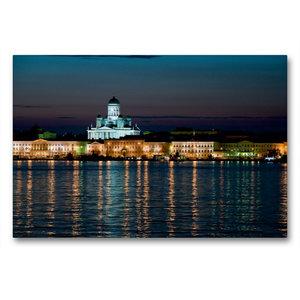 Premium Textil-Leinwand 90 cm x 60 cm quer Helsinki