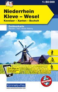 KuF Deutschland Outdoorkarte 61 Niederrhein, Wesel 1 : 50 000