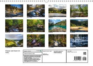 Flüsse und Seen im Harz (Wandkalender 2019 DIN A3 quer)