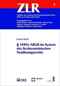 § 1489a ABGB im System des liechtensteinischen Verjährungsrechts