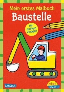 VE5 Mein erstes Malbuch mit farbigen Vorlagen: Baustelle