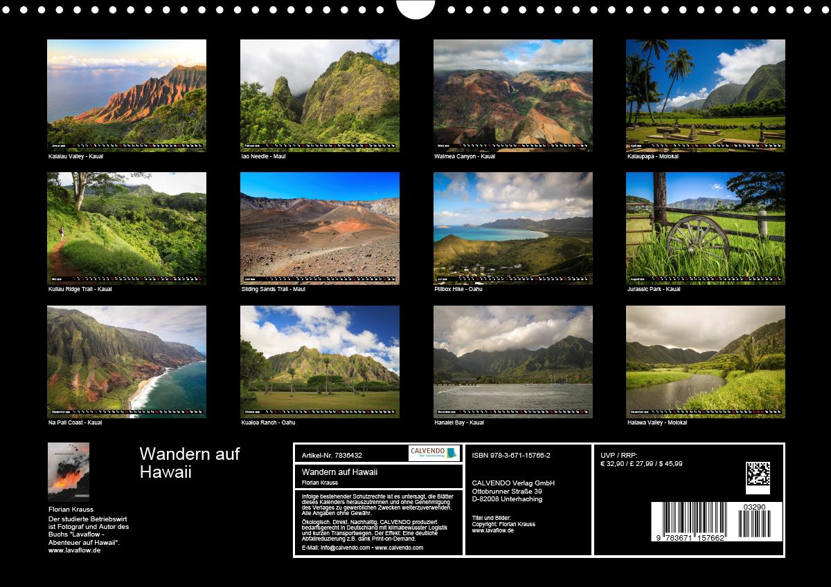 Wandern auf Hawaii - Berge im Pazifik (Wandkalender 2020 DIN A3 - zum Schließen ins Bild klicken