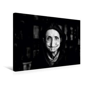 Premium Textil-Leinwand 45 cm x 30 cm quer Weiser Mann in der Me