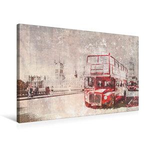 Premium Textil-Leinwand 75 cm x 50 cm quer City-Art LONDON Rote