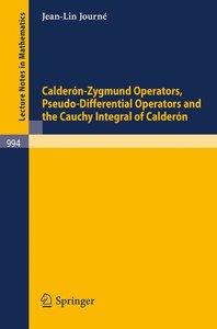 Calderon-Zygmund Operators, Pseudo-Differential Operators and th