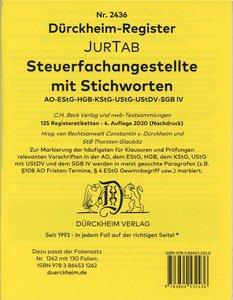 STEUERFACHANGESTELLTE Dürckheim-Griffregister Nr. 1941 (2018/192