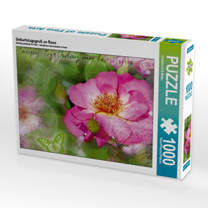 Geburtstagsgruß an Rose 1000 Teile Puzzle quer