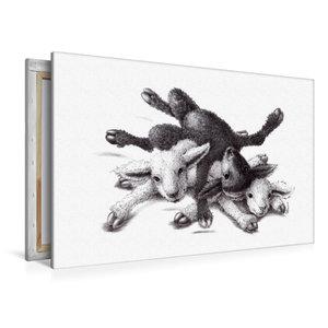 Premium Textil-Leinwand 120 cm x 80 cm quer Wollknäuel