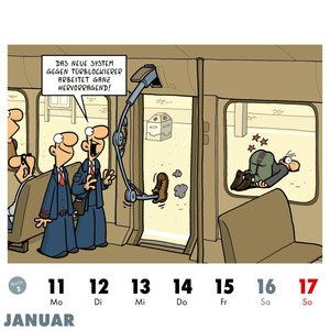 Bahnsinn! Der Pendlerkalender 2021: Tischkalender mit Cartoon-Po