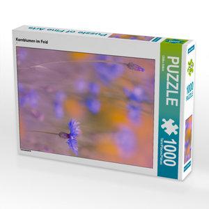 CALVENDO Puzzle Kornblumen im Feld 1000 Teile Lege-Größe 48 x 64