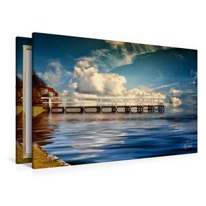 Premium Textil-Leinwand 120 cm x 80 cm quer Zwischenahner Meer