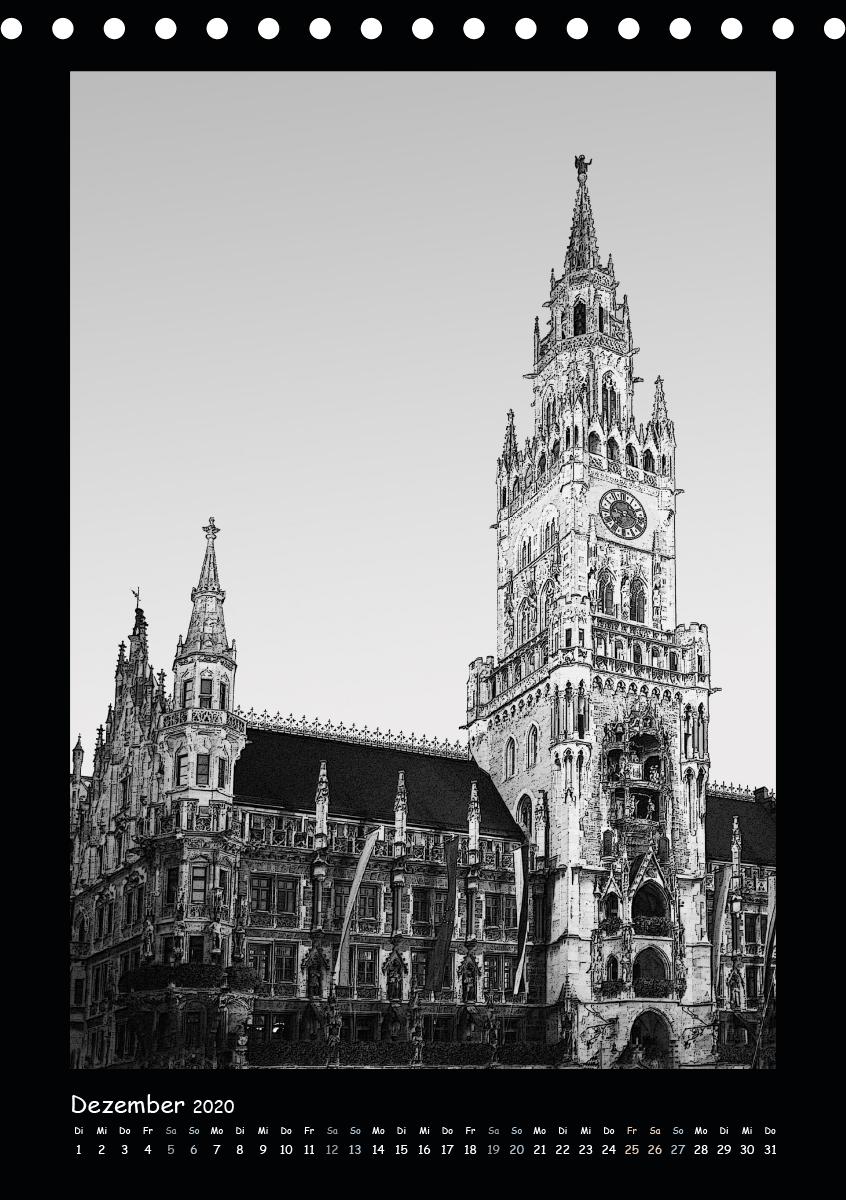 Liebenswertes München - Stilisierte Fotografien in schwarzweiß - zum Schließen ins Bild klicken
