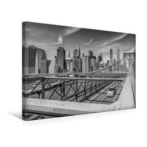 Premium Textil-Leinwand 45 cm x 30 cm quer BROOKLYN BRIDGE Blick