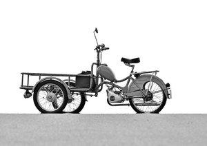Messerschmitt Mokuli 130 A in monochrom (Tischaufsteller DIN A5