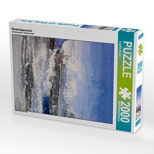 Winterimpression 2000 Teile Puzzle hoch