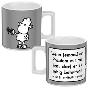 "Tasse ""Wortheld"" grau / Problem"