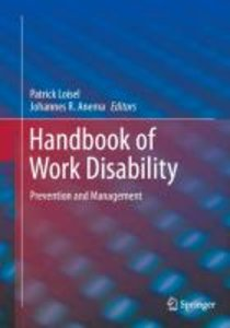 Handbook of Work Disability