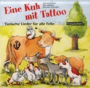 Eine Kuh mit Tattoo