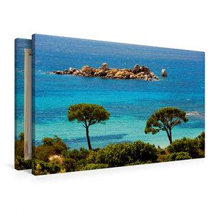 Premium Textil-Leinwand 90 cm x 60 cm quer Palombaggia