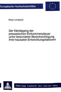 Der Werdegang der preussischen Einkommensteuer unter besonderer