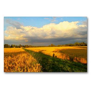 Premium Textil-Leinwand 90 cm x 60 cm quer Wolkenspiel - Gewitte