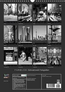 F A R B L O S - Schwarzweiß Fotografien (Wandkalender 2020 DIN A