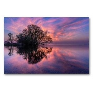 Premium Textil-Leinwand 90 cm x 60 cm quer Sonnenaufgang am groß