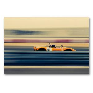 Premium Textil-Leinwand 90 cm x 60 cm quer High Speed racing