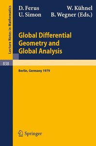 Global Differential Geometry and Global Analysis