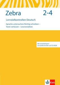 Zebra. Lernzielkontrollen mit CD-ROM 2.-4. Schuljahr. Neubearbei