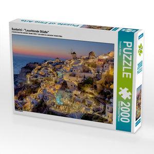 "Santorini - \""Leuchtende Städte\"" 2000 Teile Puzzle quer"
